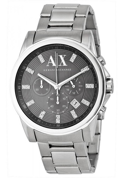 Relógio Armani Exchange Adulto Fashion Prateado Ax2092/1pn