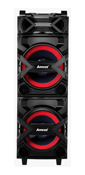 Caixa De Som Amplificadora Amvox 750w Com Bluetooth, Entrada