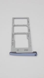 Bandeja De Chip Moto G6 Plus * Color Azul Claro Nueva *