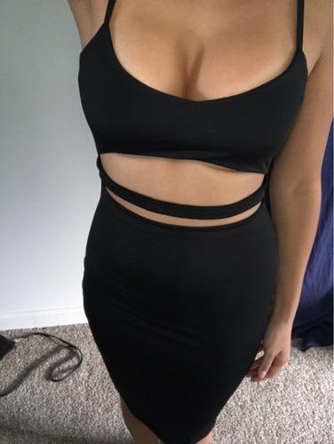 Vestido Negro Sexy Talla S Para Fiesta Reu Disco Nuevo