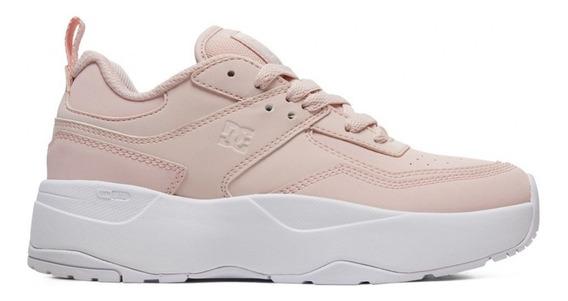 Zapatillas Dc Shoes E. Tribeka Plataforma Rosa Suela Blanco