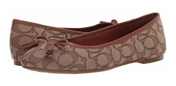 Zapatos Flats Coach Bea Originales En Caja Logo
