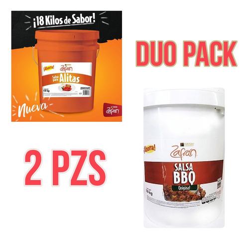 Duo Pack Cubeta Salsa Alitas + Cubeta De Bbq Zafran 18k