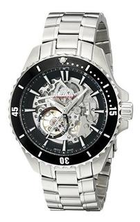 Reloj De Plata Automatico Suizo Agb90078 A 04 De Los Hombres