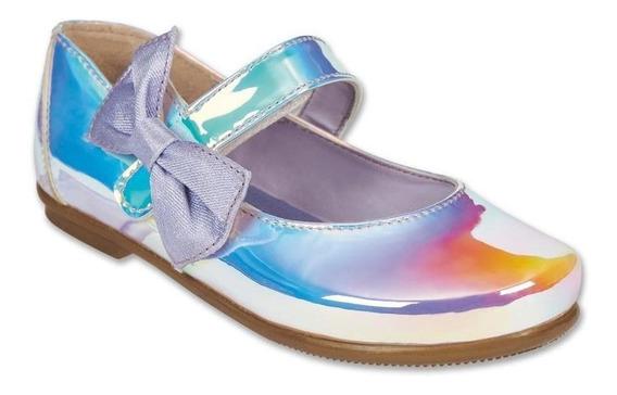 Calzado Bebe Niña Zapato Flat Tropicana Charol Lavanda Suave