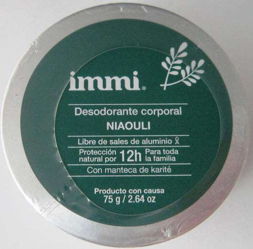 Desodorante Immi Niaouli Libre Aluminio Y Triclosan Vegano