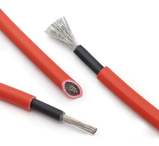 Cable Solar 1 X 2.5mm2 En50618 Rojo Por Metro - Enertik
