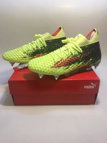 Zapato De Fútbol Profesional Puma Future 18.1 Sg Yellow Red