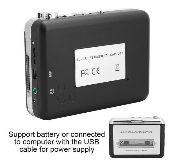Portátil Stereo Cassette Player Fita Para Mp3 Conversor De
