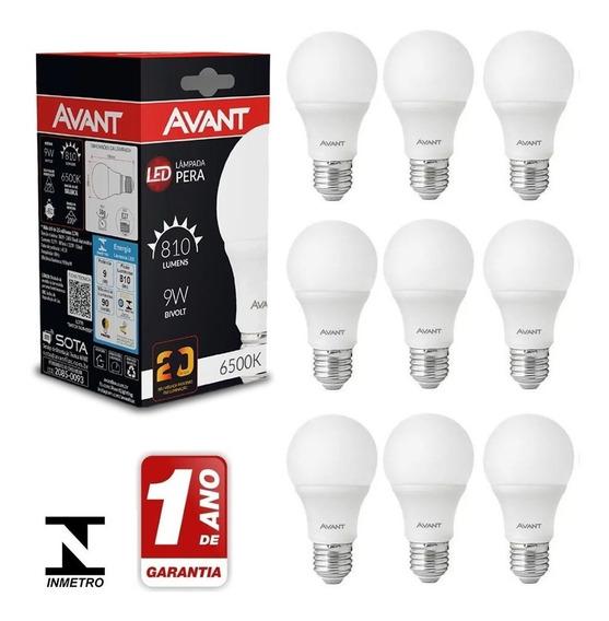 Kit 15 Lâmpada Led 9w Bulbo Soquete E27 Bivolt Casa Comércio
