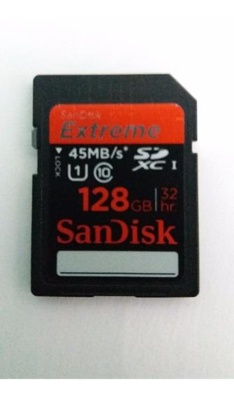 Cartão De Memória Sd Sandisk 128 Gb - Semi-novo