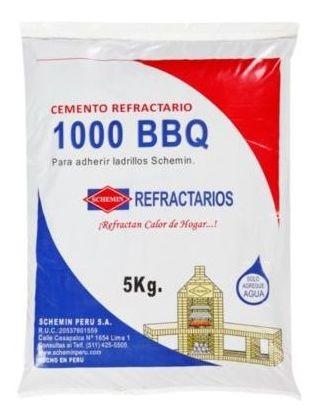 Cemento Refractario 1000 Bbq 5 Kg Consult Stock