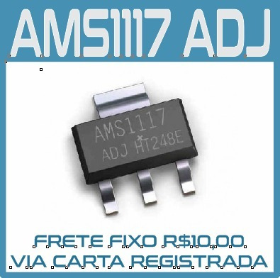 Kit 10 Pcs - Ci - Ams1117 Adj - Regulador De Tensão