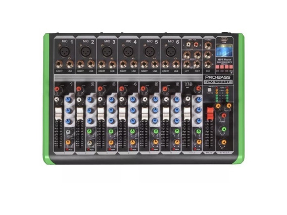 Mesa De Som Pro Bass Pm-1224bt - 110v