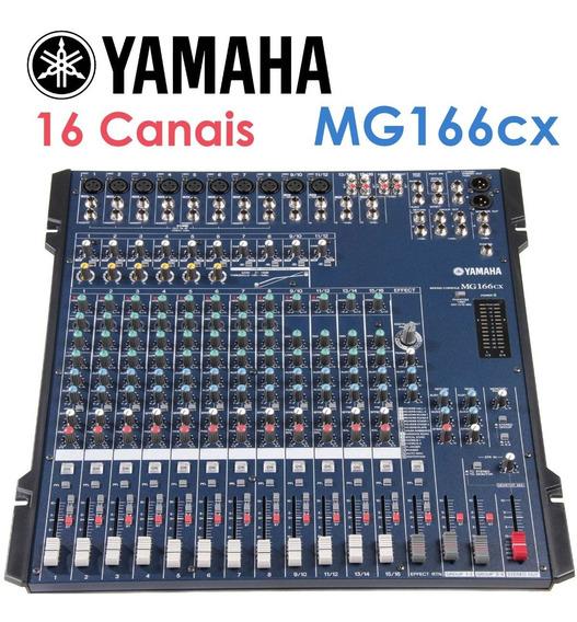 Mesa Mixagem E Gravação Yamaha Mg166cx - 16 Canais