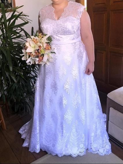 Vestido De Noiva Plus Size Tamanho 48-50