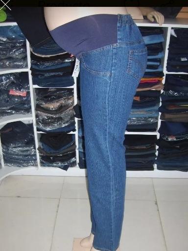 Pantalon Materno Azul Talla M!