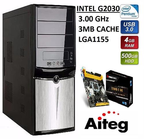 Imagen 1 de 4 de Computadora Cpu Intel Dual Core 4gb Ddr3 500gb Dd W7