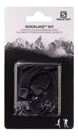 Cordones Salomon Quicklace Kit Negro