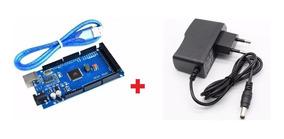 Arduino Mega 2560 R3 Ch340 + Cabo Usb + Fonte 9v