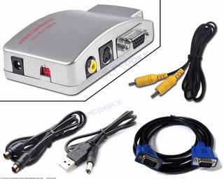 Convertidor Vga Notebook Pc A Tv Rca S-video / Master Prox