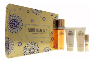 Perfume Set White Diamonds By Elizabeth Taylor Para Mujer