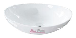 Lavamanos Sobrepuesto De Loza Ovalado Small 40x33/ Dec-haus
