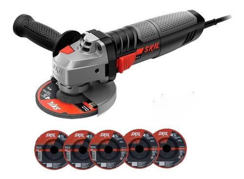 Amoladora Angular Skil 9004 115mm 830w + 5 Discos De Corte