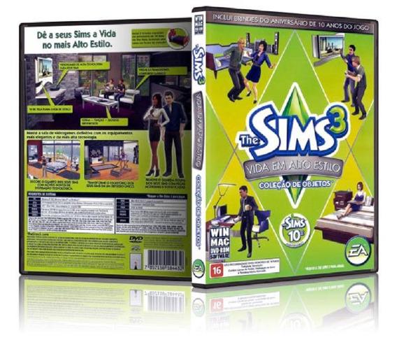 Pc The Sims 3 Vida Em Alto Estilo - Pacote De Objetos- Novo