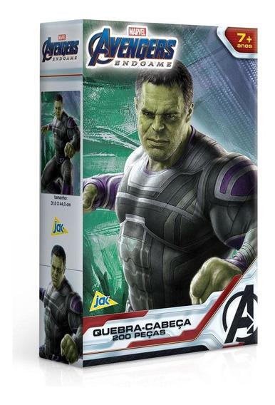 Quebra-cabeça Os Vingadores Hulk Endgame 200 Peças - Toyster