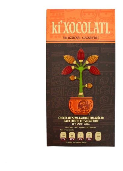 Chocolate Ki Xocolatl Semi-amargo 56% Cacao, Sin Azucar
