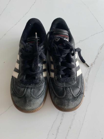 Zapatillas Niños adidas Negras Talle Usa 1 (32) Usadas