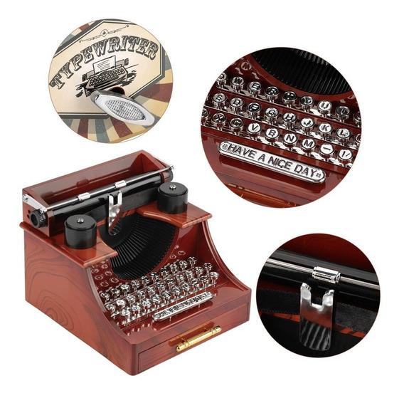 Cajita Musical Maquina De Escribir Caja Música Typewriter !!