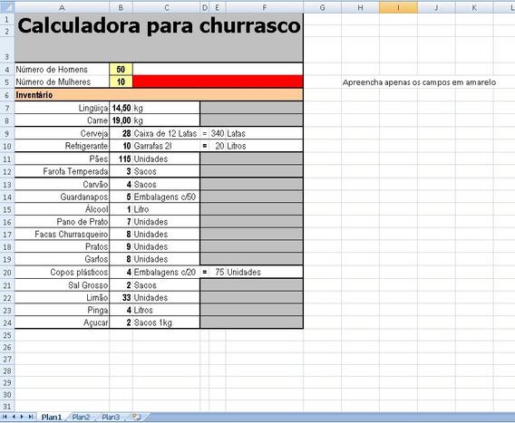 Calculadora Para Churrasco
