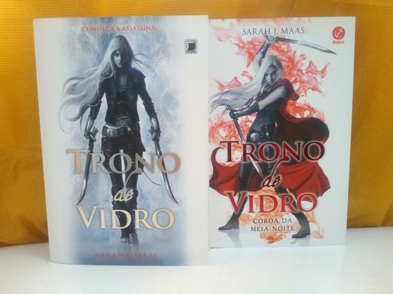 Livros Trono De Vidro + Coroa Da Meia-noite - Sarah J. Maas