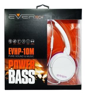 Fone De Ouvido Evertech Evhp-10m Home Office Com Microfone