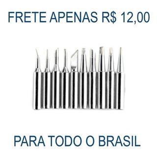 Kit Ponta Ferro De Solda Variadas 900mti 10 Peças