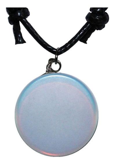 Colar Hippie Artesanatos Pedra Lua Opalina Hippie Presente