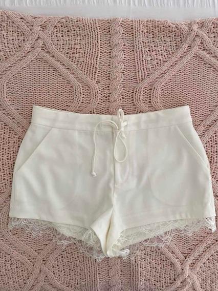 Short Blanco Rapsodia