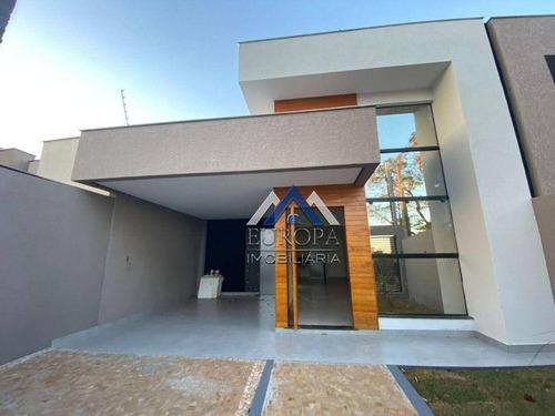 Imagem 1 de 24 de Casa Próximo Do Aeroporto Com 3 Dormitórios À Venda, 120 M² Por R$ 440.000 - Monte Carlo - Londrina/pr - Ca1555