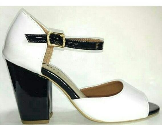 Sandalia Salto Baixo