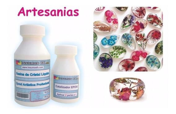 Resina Cristal Epoxi Para Artesanias Y Bijuteria Dijes Aros