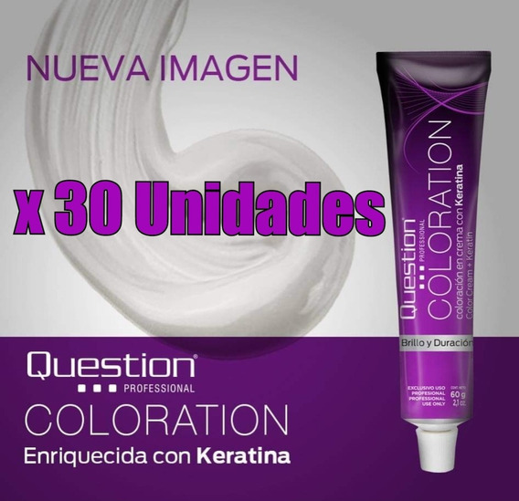 Tinturas Coloración En Crema Question 60gr X 30 Unidades