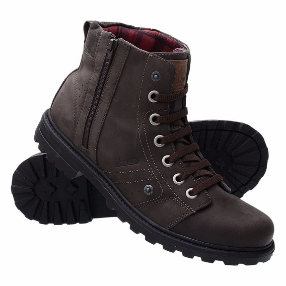 Bota Coturno Adventure Casual Ziper Dhshoes Sapato Exclusiva