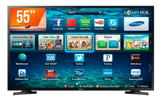 Smart Tv Samsung Led 55 Polegadas 4k Ultra Hd Lh55benelga/zd