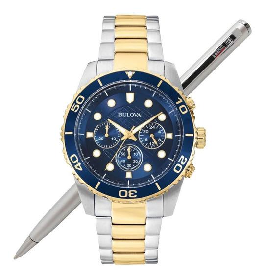 Relógio Bulova Masculino Wb31989a / 98a170 C/ Nf