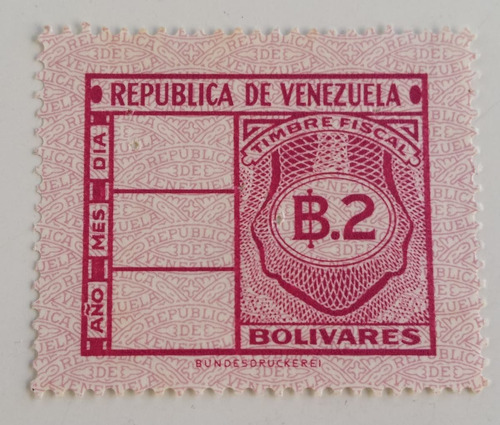 Pack 8 Sellos Venezuela Timbre Fiscal 2, 5, 20,  Bs