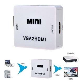 Convertidor Vga A Hdmi + Audio - Pc Y Portátiles + Obsequio