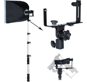 Kit Suporte Para Flash Speedlight E Softbox 60cm