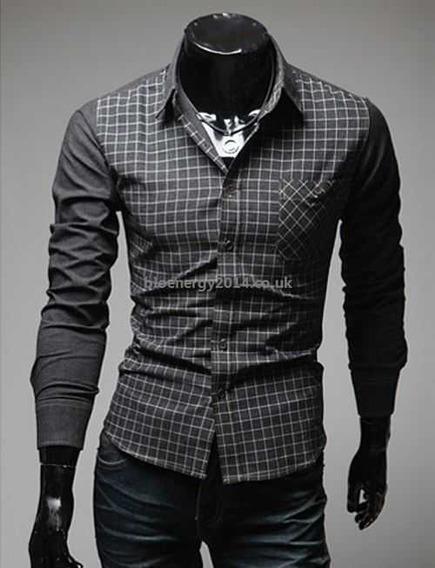 Camisa Manga Longa Social Grife Vska Masculina